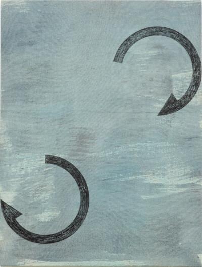 ´Bilder der fliessenden Welt V`, 230420, acrylic, pigments on linen, 60 x45 cm