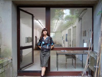 Claudia Larissa Artz in her last days at her studio 14, Cologne, july 2020