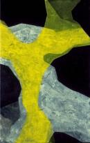 Malerei, Górtis, Schlange, acrylic, pigments, canvas, 70x45