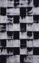 L´espace libre X, acrylic, pigments, linocolor, canvas, 200 x115 cm