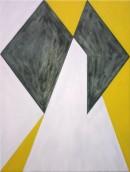 Malerei, Saltus II, 2008, acrylic, oil, pigments on cotton, 60 cm x 45 cm