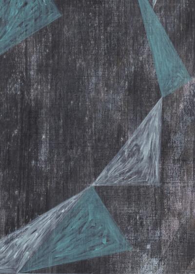 ´Vom Gefühl der Welt`, 2017, Detailauschnitt auf Pigmente, Acryl auf leinwand, 200x170 cm