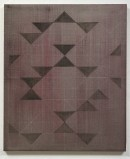 abstract painting, dogen I, 2012, acrylic, eggtempera, pigments, white pencil on cotton, 60 cm x 50 cn