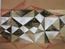 Golden Heart 6, Acryl-Tusche-Kuli, Papier-24x31, 11-2010