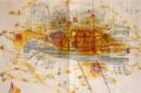 Portvine LBV (Niepoort) paperwork, ´omnibus, jaune I `, sketsches for boz, 2011, pencil, on paper