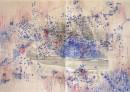 Portvine LBV (Niepoort) paperwork, Charles Dickens Museum,sketsches for boz, ominbus, bleu I, 2011, pencil, on paper x cm