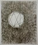 ´Die Belagerung II (Der Garten)`, 2013, ink on portvien on paper, 24,5 x 40,7 cm