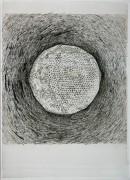 ´Die Ringe durchbrechen, für den Freigeist II, 2014, ink on portvine on paper, 35 x 25 cm, photograph Claudia Larissa Artz