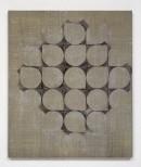 ´HIMMELSRICHTUNGEN I, Quadrat und Himmelsrund`, 2014 , pigments, acrylic, canvas, 68 x 57,5 cm
