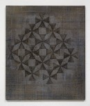 ´HIMMELSRICHTUNGEN II, Pyramide`, 2014 , pigments, acrylic, canvas, 68 x 57,5 cm