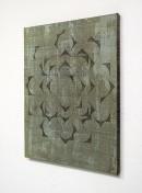 ´exibition view, HIMMELSRICHTUNGEN VIII`, 2014 , pigments, acrylic, canvas, 68 x 57,5 cm_
