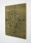 ´exibition view, HIMMMELSRICHTUNGEN IX`, 2014, pigments, acyrlic, canvas, 68 x 57,5 cm