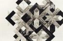 ´la contre flèche III`, 2016, lencre du chine on paper, 224g , 32 x 48 cm