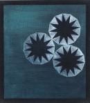 ´Vom Gefuehl der Welt (3 Kreise)`, 2016, pigments, acrylic on linen, 40 x 35 cm