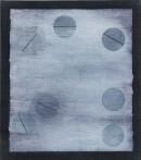 ´Vom Gefuehl der Welt, (Balance), 2016, pigments, acrylic on linen, 40 x 35 cm