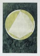 ´LOB DES RAUMES II (für Platon I), 042018, pigments, eggtempera, watercolor, pencil on paper, 48,5 x 33,5 cm