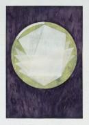 ´LOB DES RAUMES II (für Platon II), 072018, pigments, eggtempera, watercolor, pencil on paper, 48,5 x 33,5 cm