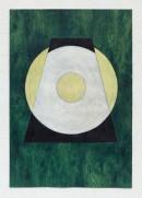´LOB DES RAUMES II (für Platon IX), 062018, pigments, eggtempera, watercolor, pencil on paper, 48,5 x 33,5 cm