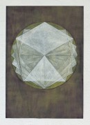 ´LOB DES RAUMES II (für Platon VI), 122017, pigments, eggtempera, watercolor, pencil on paper, 48,5 x 33,5 cm