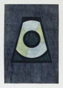 ´LOB DES RAUMES II (für Platon VII), 042018, pigments, eggtempera, watercolor, pencil on paper, 48,5 x 33,5 cm