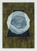 ´LOB DES RAUMES II (für Platon VIII), 052018, pigments, eggtempera, watercolor, pencil on paper, 48,5 x 33,5 cm