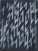 ´la contre fèche III (für Ucello)`, 14042019, pigments, acrylic on canvas, 60 x 45 cm