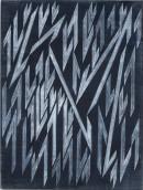 ´la contre flèche IV`, 13092019, pigments, acrylic on canvas, 60 x 45 cm