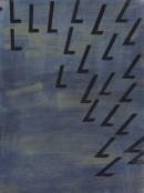 ´Bilder der fliessenden Welt VII`, 040420, acrylic, pigments on linen, 60 x 45 cm