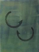 ´Bilder der fliessenden Welt VI`, 052020, acrylic, pigments on linen, 60 x 45 cm