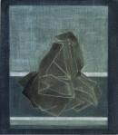 ´KESA IX`, 2021, pigments, acrylic on canvas, 40 x 35,5 cm