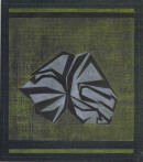 ´KESA VII`, 2020, pigments, acrylic, pencil on canvas, 40 x 35,5 cm