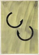 ´Bilder der fließenden Welt 1`, 03052020, pigments, acryl on paper, 29,7 x 21 cm