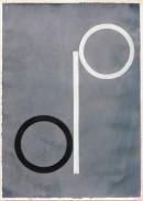 ´Bilder der fließenden Welt 9`, 21042020, pigments, acryl on paper, 29,7 x 21 cm