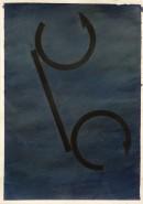 ´Bilder der fließenden Welt 13`, 26042020, pigments, acryl on paper, 29,7 x 21 cm