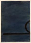 ´Bilder der fließenden Welt 14`, 27042020, pigments, acryl on paper, 29,7 x 21 cm