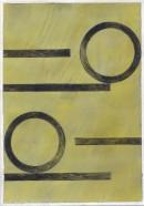´Bilder der fließenden Welt 17`, 07052020, pigments, acryl on paper, 29,7 x 21 cm