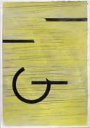 ´Bilder der fließenden Welt 19`, 1552020, pigments, acryl on paper, 29,7 x 21 cm