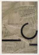 ´Bilder der fließenden Welt 2`, 16022020, pigments, acryl on paper, 29,7 x 21 cm