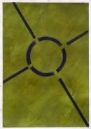 ´Bilder der fließenden Welt 21`, 23052020, pigments, acryl on paper, 29,7 x 21 cm
