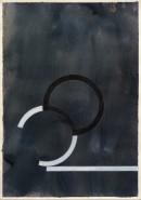´Bilder der fließenden Welt 22`, 22052020, pigments, acryl on paper, 29,7 x 21 cm