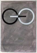 ´Bilder der fließenden Welt 23`, 26052020, pigments, acryl on paper, 29,7 x 21 cm