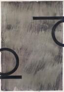 ´Bilder der fließenden Welt 6`, 16042020, pigments, acryl on paper, 29,7 x 21 cm