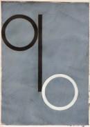 ´Bilder der fließenden Welt 8`, 21042020, pigments, acryl on paper, 29,7 x 21 cm
