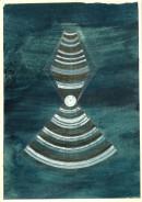 ´Schichten zunehmend dichter werdender Materie I`, 030121, acrylic, pigments, ink, pencil on paper, 29,7x21 cm
