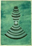 ´Schichten zunehmend dichter werdender Materie IV`, 100121, acrylic, pigments, ink, pencil on paper, 29,7 x 21 cm