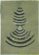 ´Schichten zunehmend dichter werdender Materie V`, 150121, acrylic, pigments, ink, pencil on paper, 29,7 x 21 cm