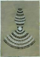´Schichten zunehmend dichter werdender Materie VI`, 240121, acrylic, pigments, ink, pencil on paper, 29,7 x 21 cm