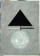 ´MOMENTS IV`, 150121, pigments, acrylic, ink, pencil, 29,7 x 21 cm