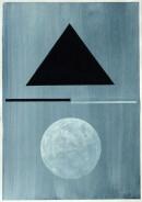 ´MOMENTS X`, 290121, pigments, acrylic, ink, pencil, 29,7 x 21 cm
