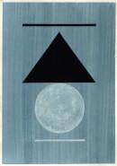´MOMENTS XI`, 290121, pigments, acrylic, ink, pencil, 29,7 x 21 cm